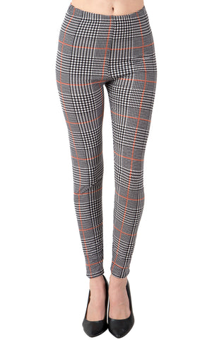 Printed Brushed Leggings - Hot Pink Dots (Digital Print)