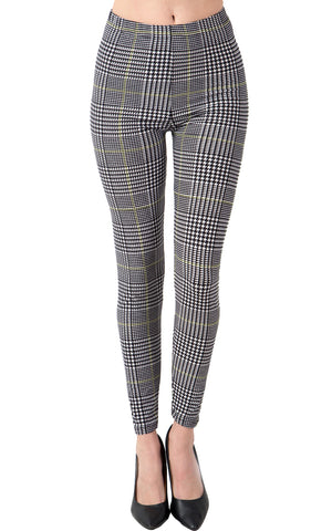 Printed Brushed Leggings - Antique Cross