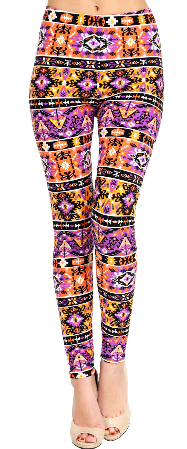 Printed Brushed Leggings - Zapper