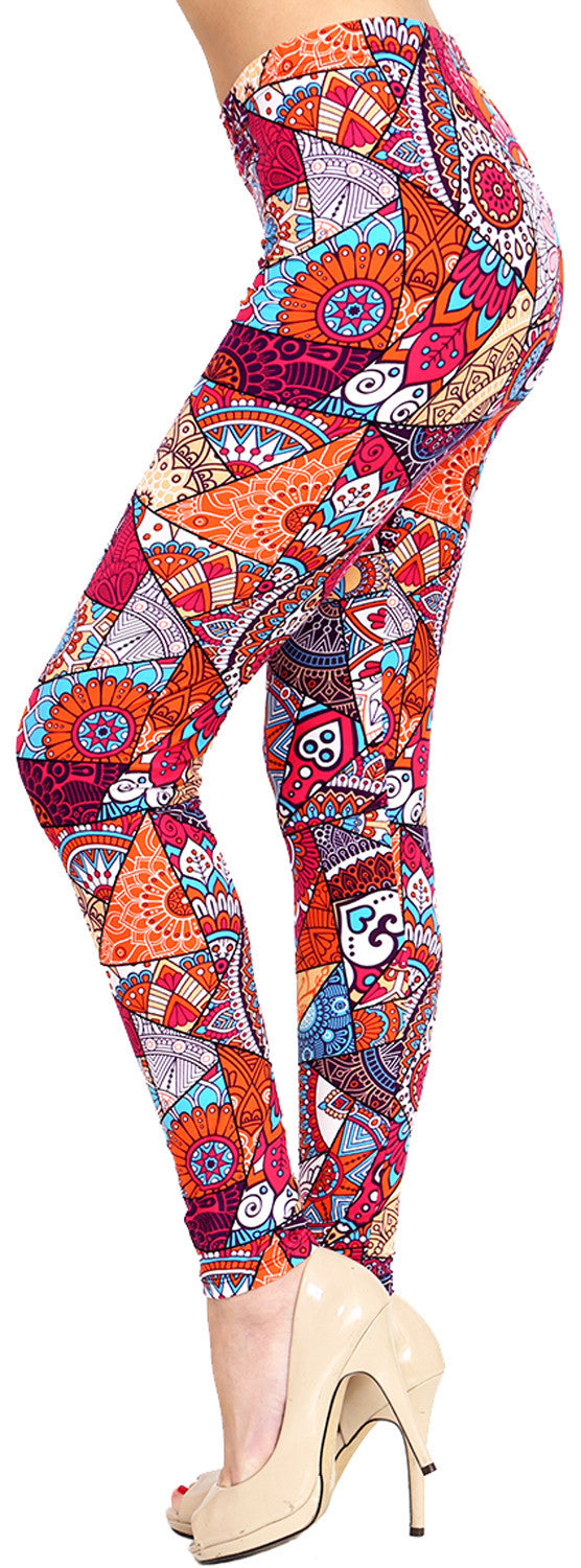 Printed Brushed Leggings - Fruit Punch - VIV Collection