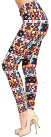 Printed Brushed Leggings - Fusion Blinkers - VIV Collection