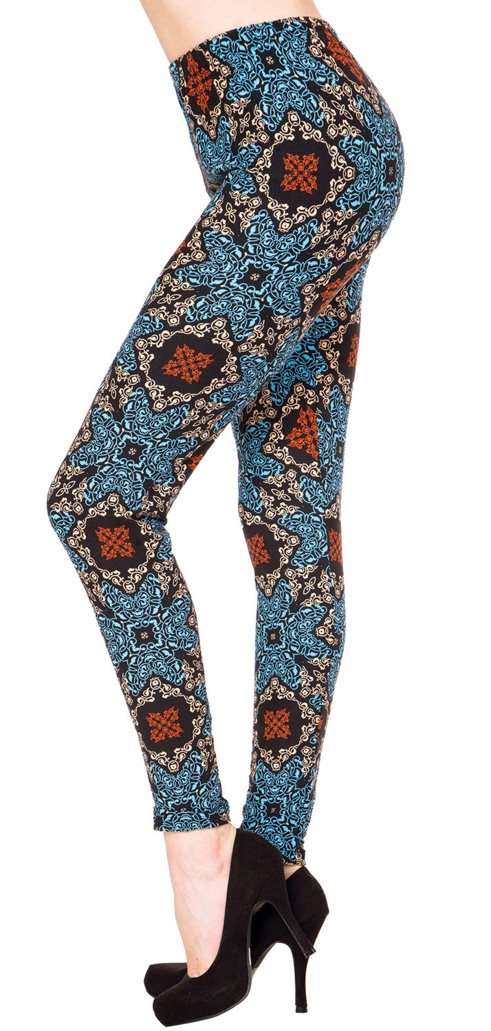 Printed Brushed Leggings - Expressive Teamwork