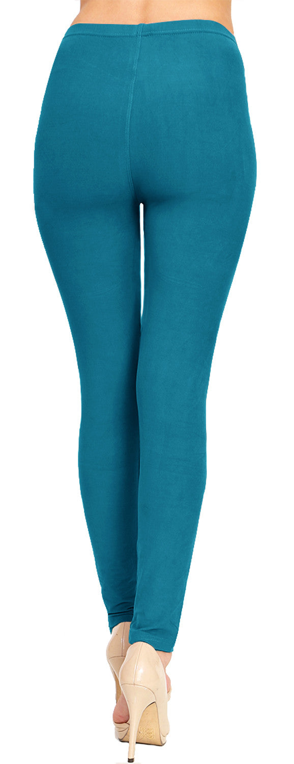 Solid Brushed Leggings VP103-Teal