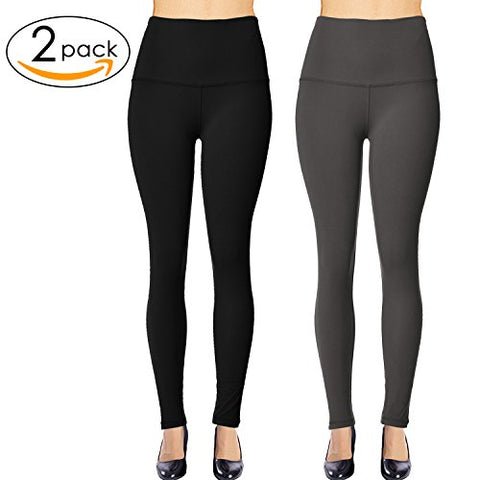 Solid Brushed Leggings  VP103-Black (Full Length/Capri)