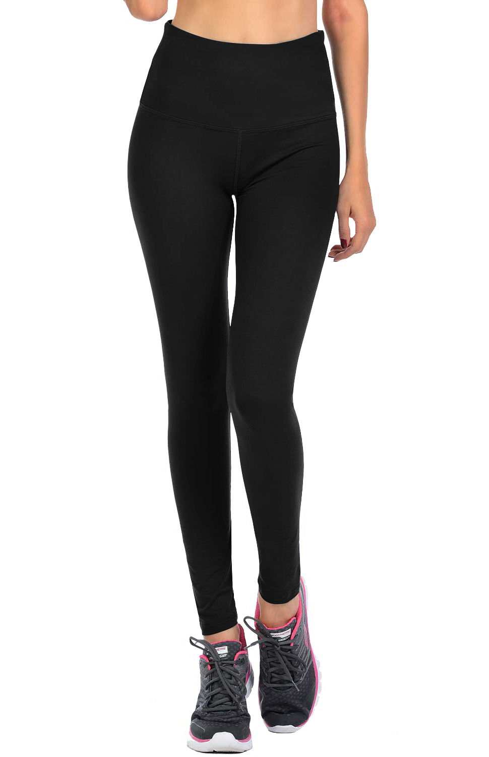VIV Collection Signature Leggings Ultra Soft and Strong Tension Elastic YOGA Waistband w/ Hidden Pocket