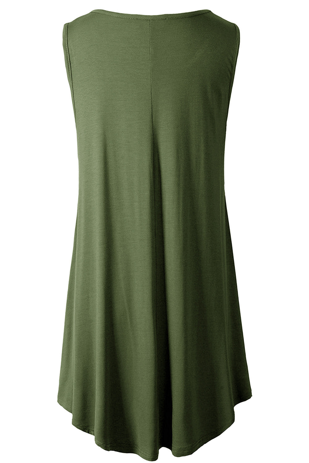 Sleeveless Flare Hem Tunic Top