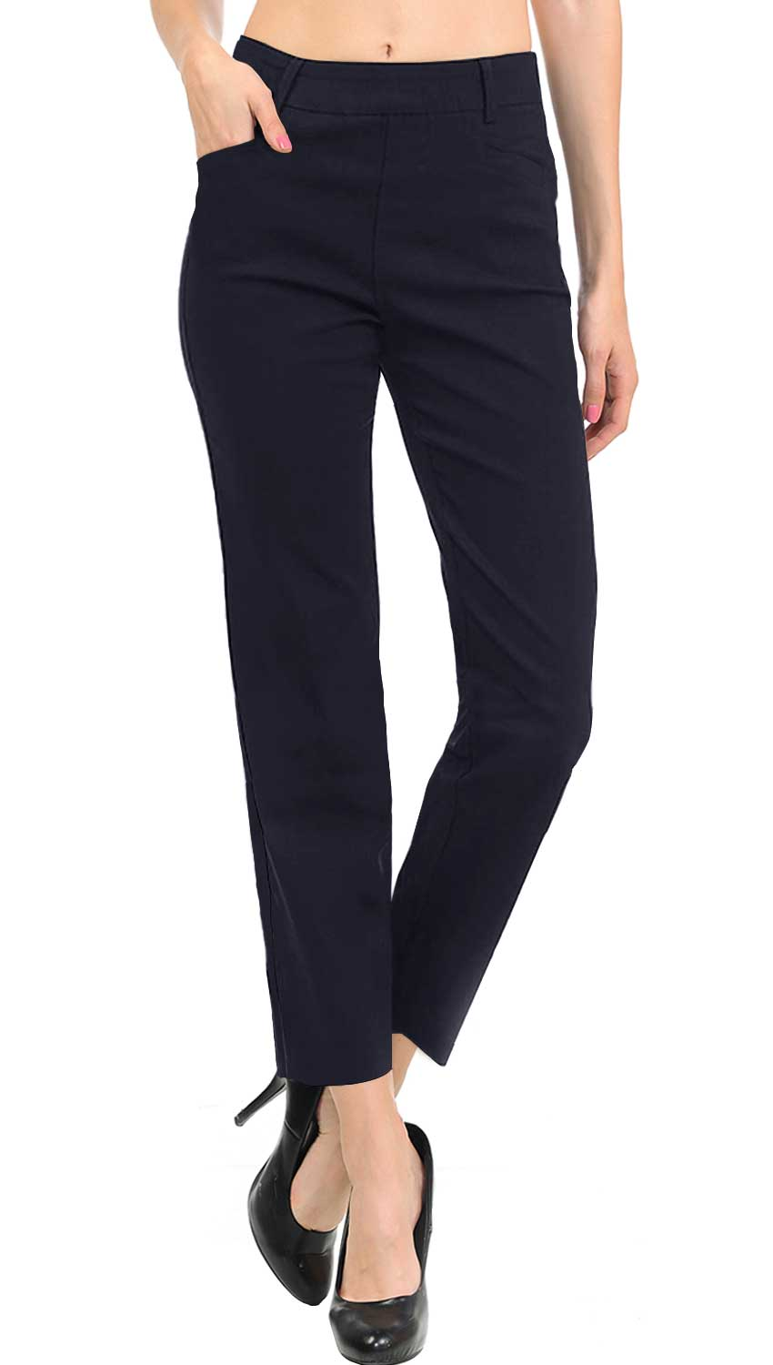 NEW Women's Straight Fit Trouser Ankle Pants