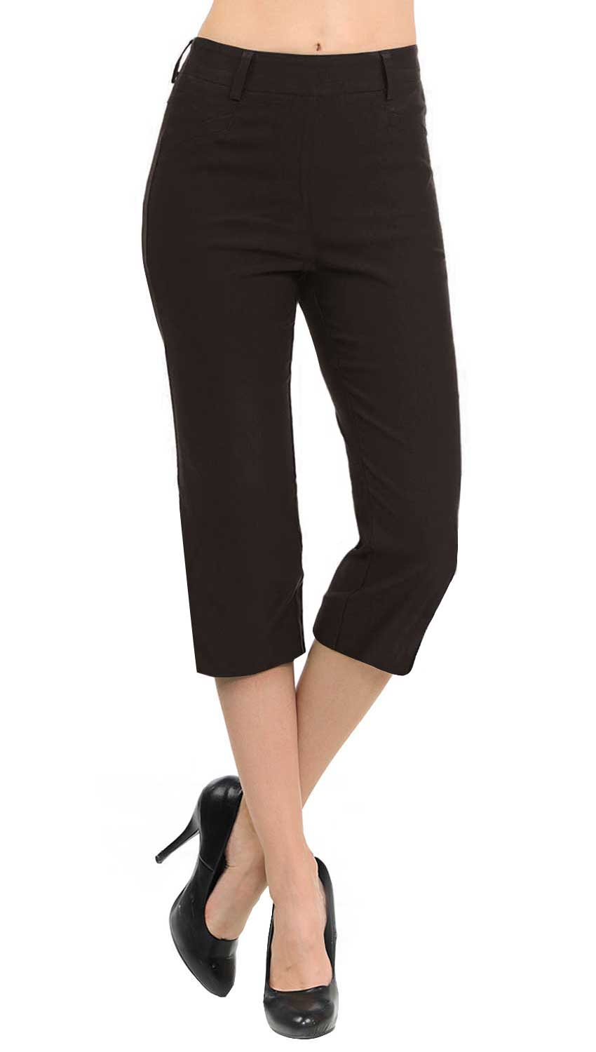 NEW Women's Straight Fit Trouser Capri Pants