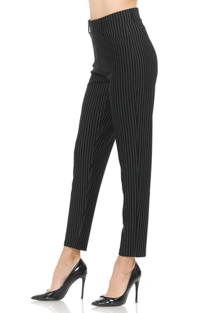 NEW Wrinkle-Free Women's Straight Fit Long Trouser Ankle Pants Stripes | Dots
