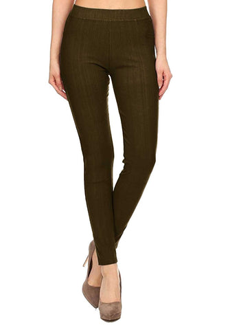 Solid Brushed Leggings - VP103-Old Rose