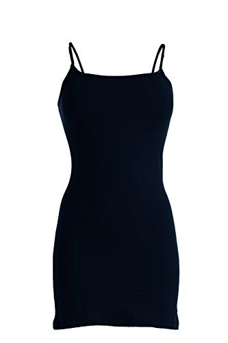 Plain Basic Cami Cotton Tank Top (Navy)