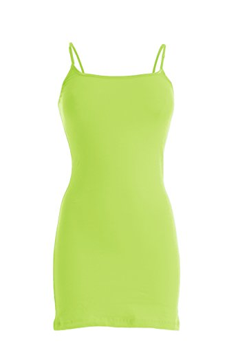 Plain Basic Cami Cotton Tank Top (Neon Green)