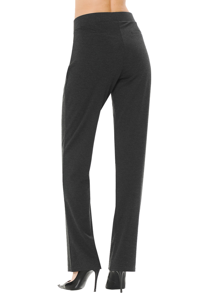 NEW Wrinkle-Free Women's Straight Fit Long Trouser Pants