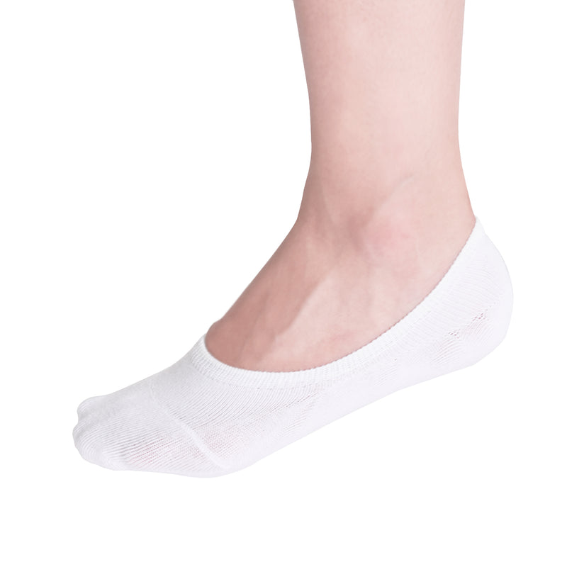 VIV Collection Women's 3 & 6 Pack No Show Socks Non Slip Boat Line