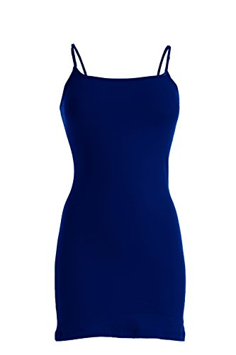 Plain Basic Cami Cotton Tank Top (Royal Blue)
