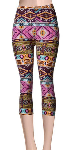 Printed Capris Leggings - Patterna