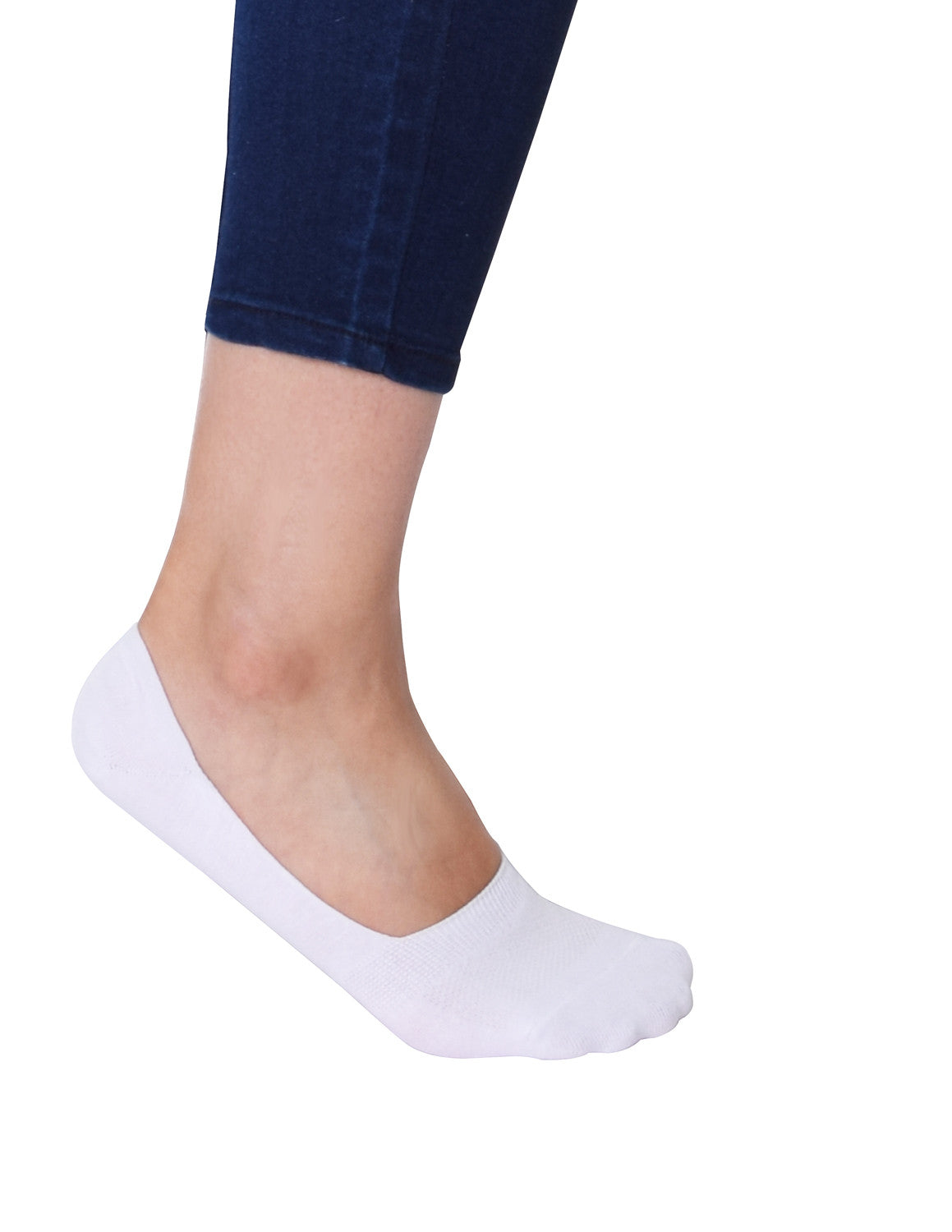 VIV Collection Women's 6 Pack Casual Invisible No Show Socks Non Slip