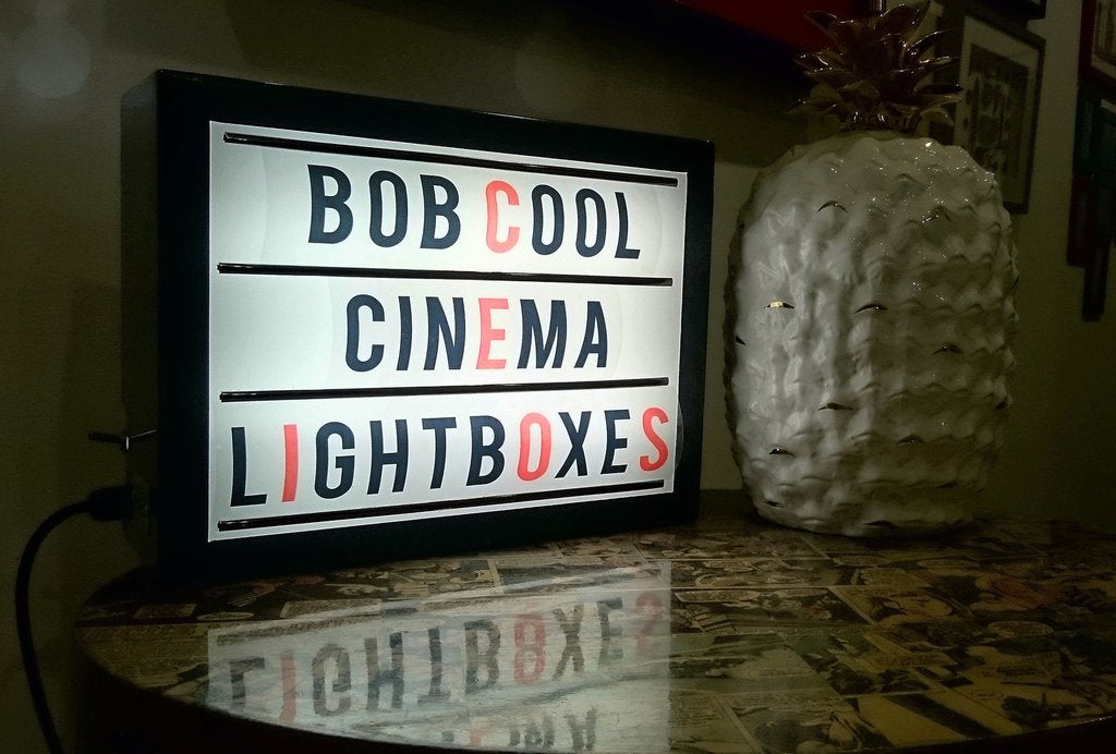Rectangular Cinema Light Box - With Interchangeable Letter Pack (3 Sizes Available)