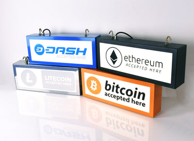 50cm x 20cm 'Cryptocurrency' Steel Light Box - Bob Cool