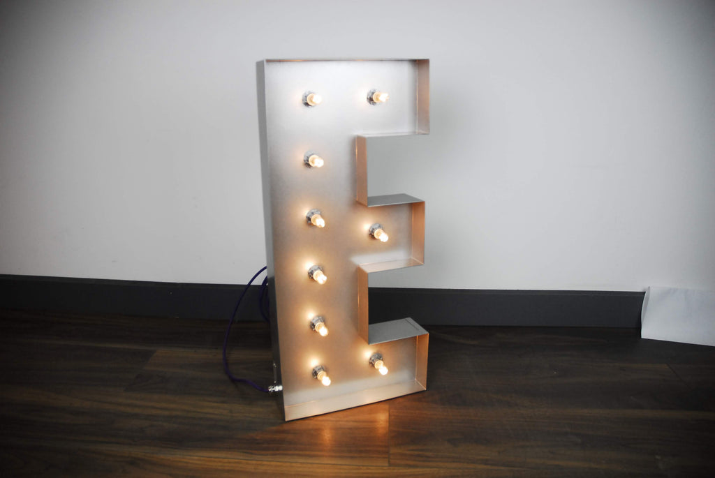 Bob Cool Letter Lights (3 Sizes, 3, Fonts, 3 Finishes Available)