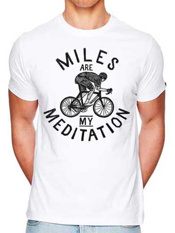 Miles are my Meditation (White)