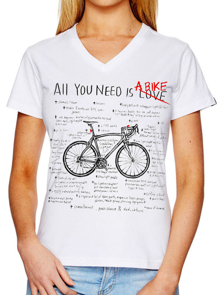 All You  Need Womens V Neck SS Tee