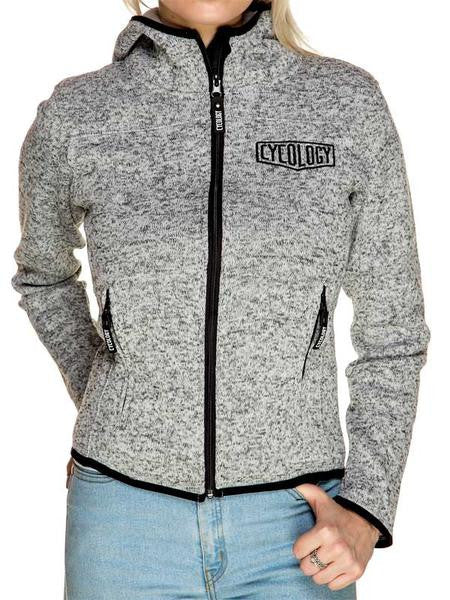 Cycology Womens Grey Knitted Hoodie