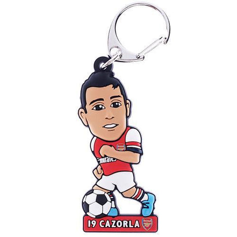 Arsenal F.C. PVC Keyring Cazorla - Sports Memorabilia | Sports Fan Gear | Absolute Sport Fan Shop