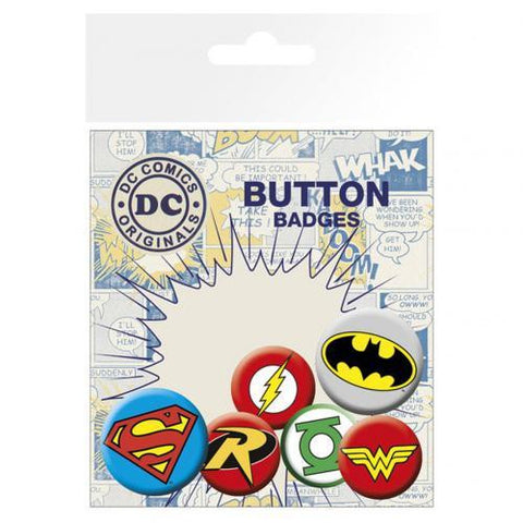 DC Comics Button Badge Set