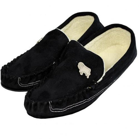 Derby County F.C. Mens Moccasins 7-8 BLK