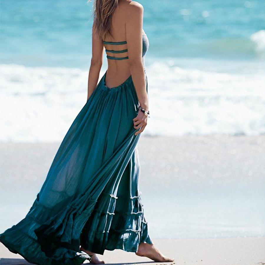 Aviana Halter Beach Dress