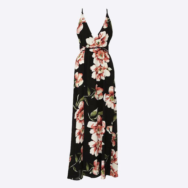 Shea Spaghetti Floral Maxi Dress