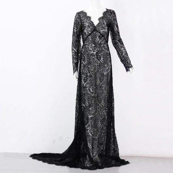 Sia Lacey Elegant Long Dress