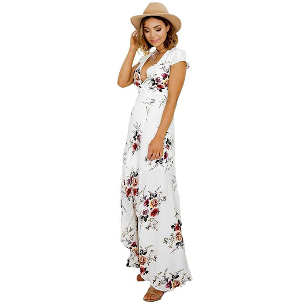 Uri Floral Summer Beach Dress