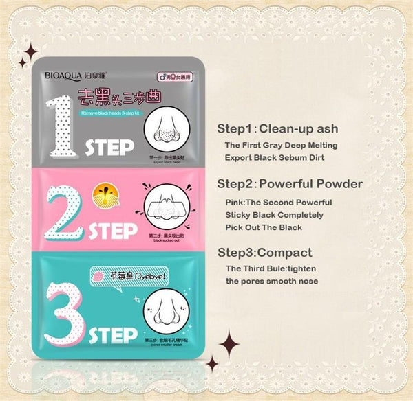 3-Step Kit Blackheads Remover