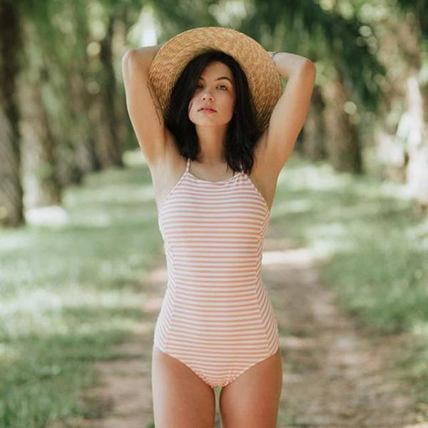 Striped Monokini Swimwear