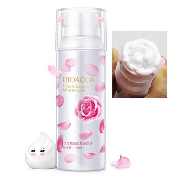 Rose Facial Foam Wash