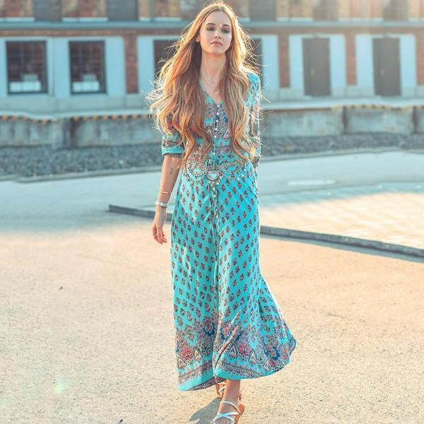 Farah Bohemian-Inspired Maxi Dress