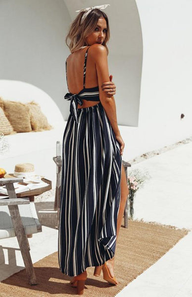 Nimah Striped Long Beach Dress