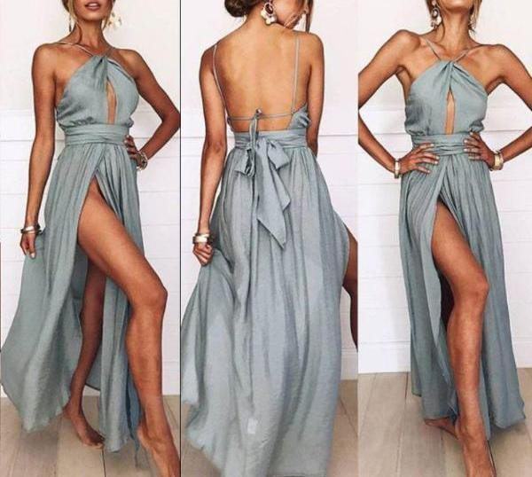 Royce Side-Slit Maxi Dress