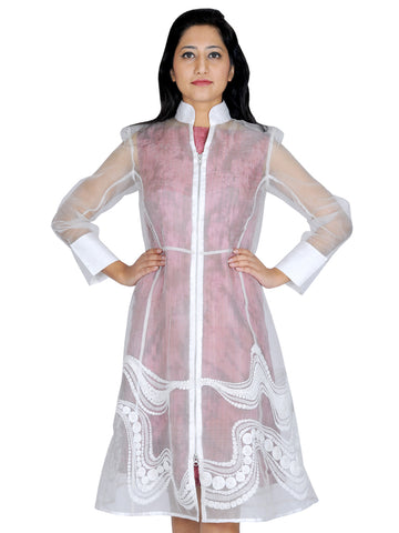 Silk katan Waves embroidered jacket