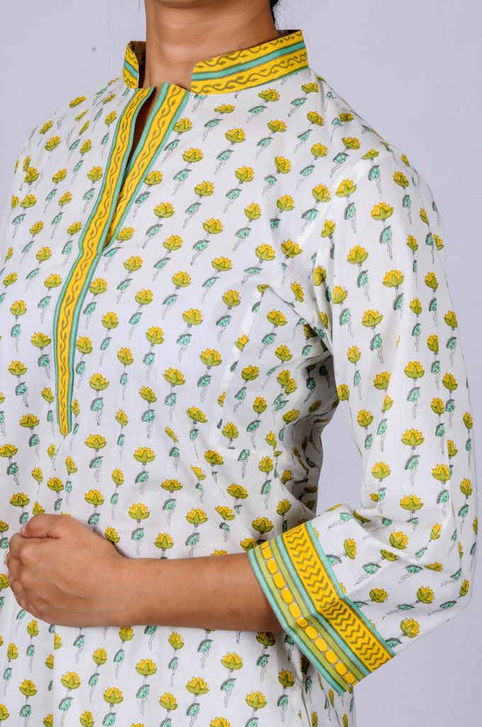 Printed kurtas Small lotuses