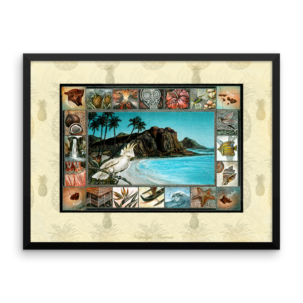 Nostalgic Hawaii Framed Art Print