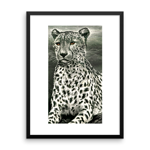 Serengeti Cheetah Framed Print