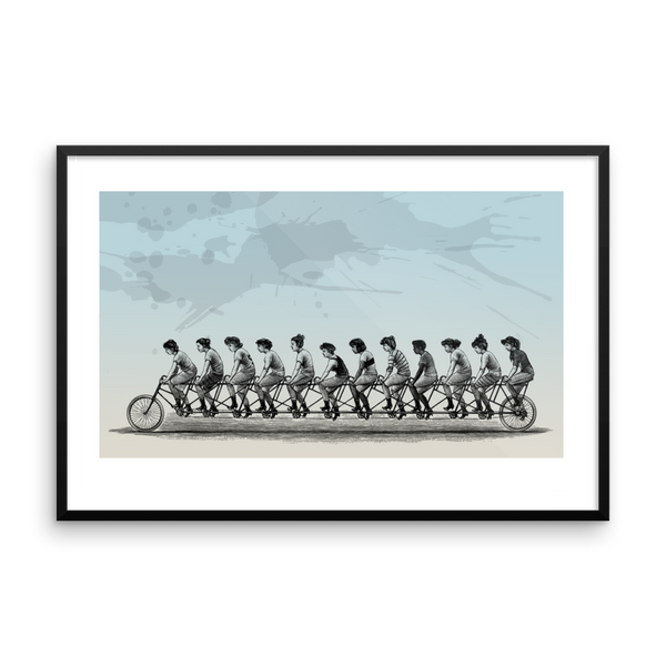 Bicycle Women Framed Print 24 x 36