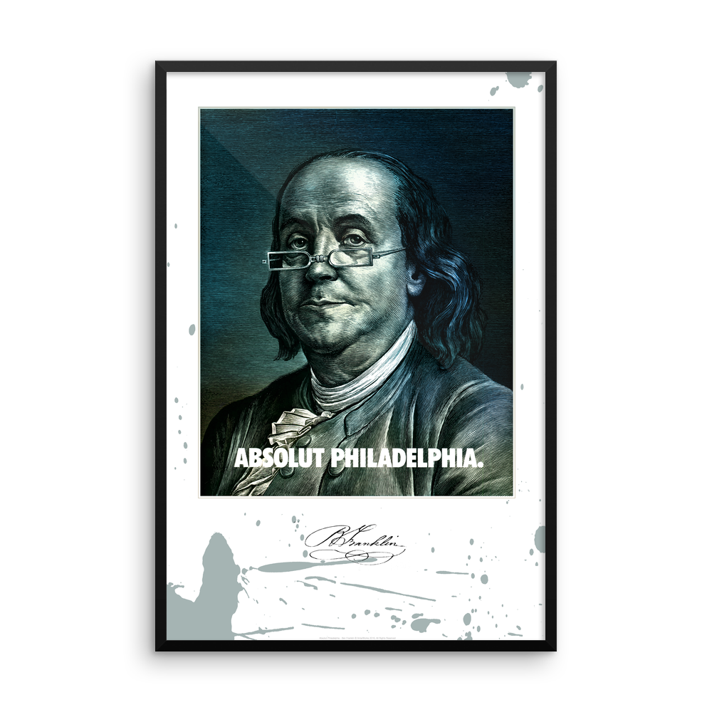 Absolut Philadelphia Ben Franklin Framed Print