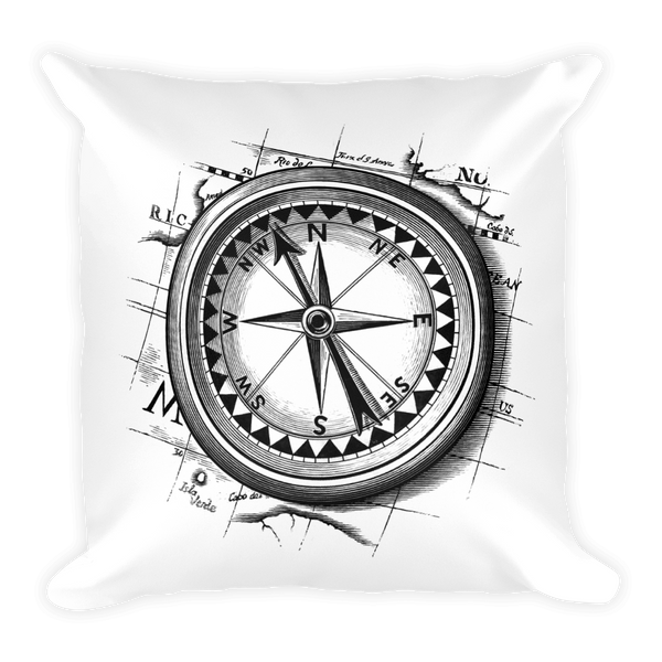 Nautical Compass Pillow