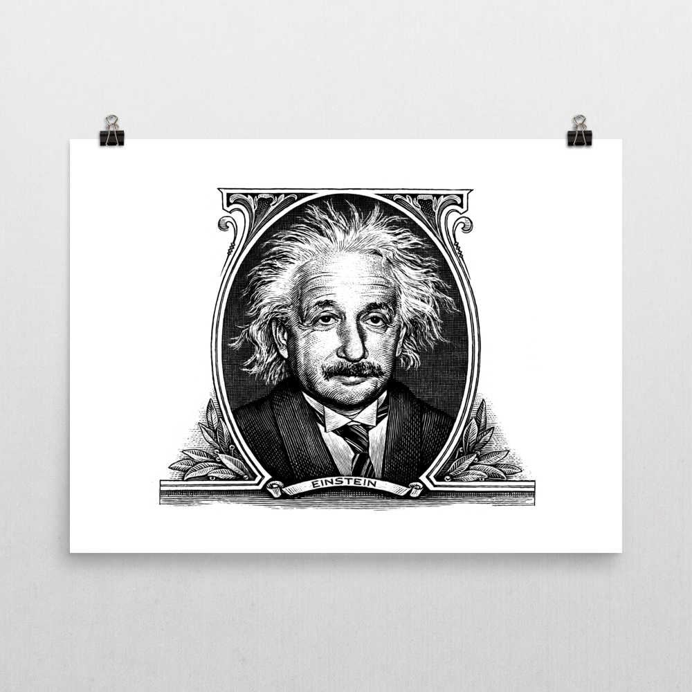 Einstein Unframed Art Print