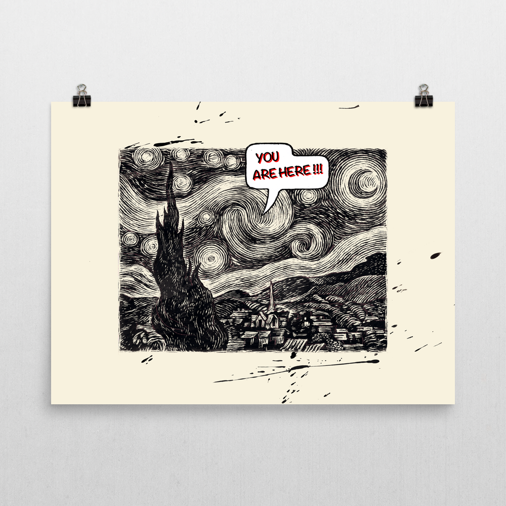Starry Night Unframed Art Print