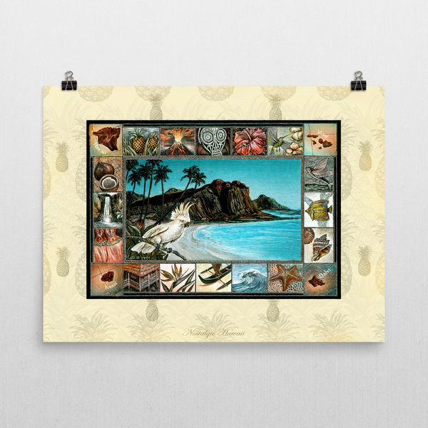 Nostalgic Hawaii Unframed Art Print